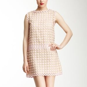 RED Valentino Embroidered Silk Shift Dress
